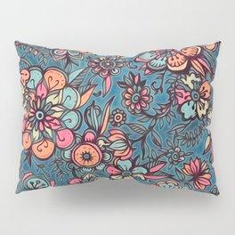 Sweet Spring Floral - melon pink, butterscotch & teal Pillow Sham