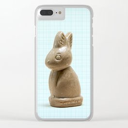 Chocolate Bunny Clear iPhone Case