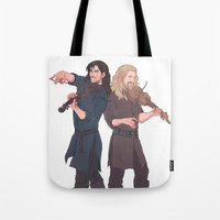 kili Tote Bags featuring fili&kili - music by Ronnie