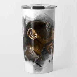 thinking monkey Travel Mug