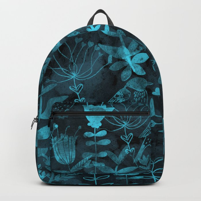 Watercolor Floral & Birds IV Backpack