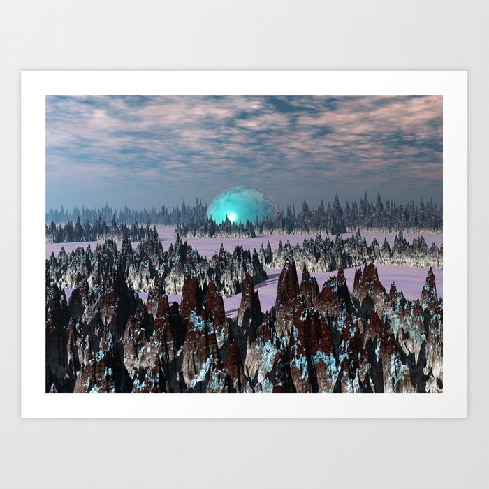 Sci Fi Landscape Art Print