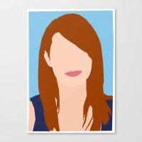 emma stone Canvas Prints featuring Emma Stone Digital Portrait by RoarsAdams