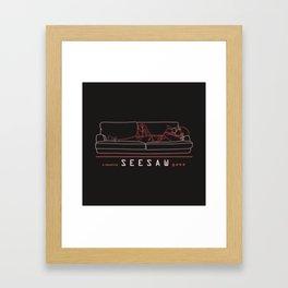 bts suga seesaw line art Framed Art Print