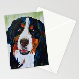 Colorful Bernese Mountain Dog Stationery Cards