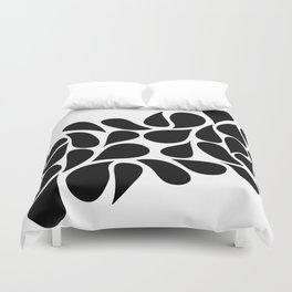 Small Abstract Black & White Foliage Pattern - Mix and Match with Simplicity of Life Duvet Cover