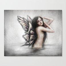Bathing Pixie Canvas Print
