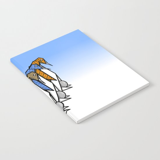 Origami Penguins Notebook