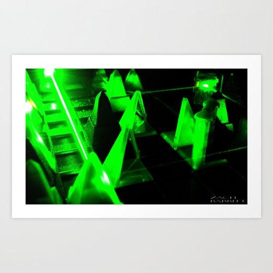 Green Lasers Art Print