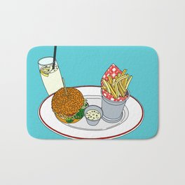 Burger, Chips and Lemonade Bath Mat