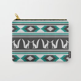 Ethnic pattern with foxes Carry-All Pouch