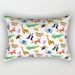 A Cute Animal Pattern Print Rectangular Pillow