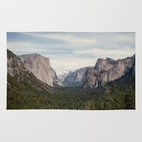 yosemite Area & Throw Rugs featuring Yosemite Valley by Laura Ruth