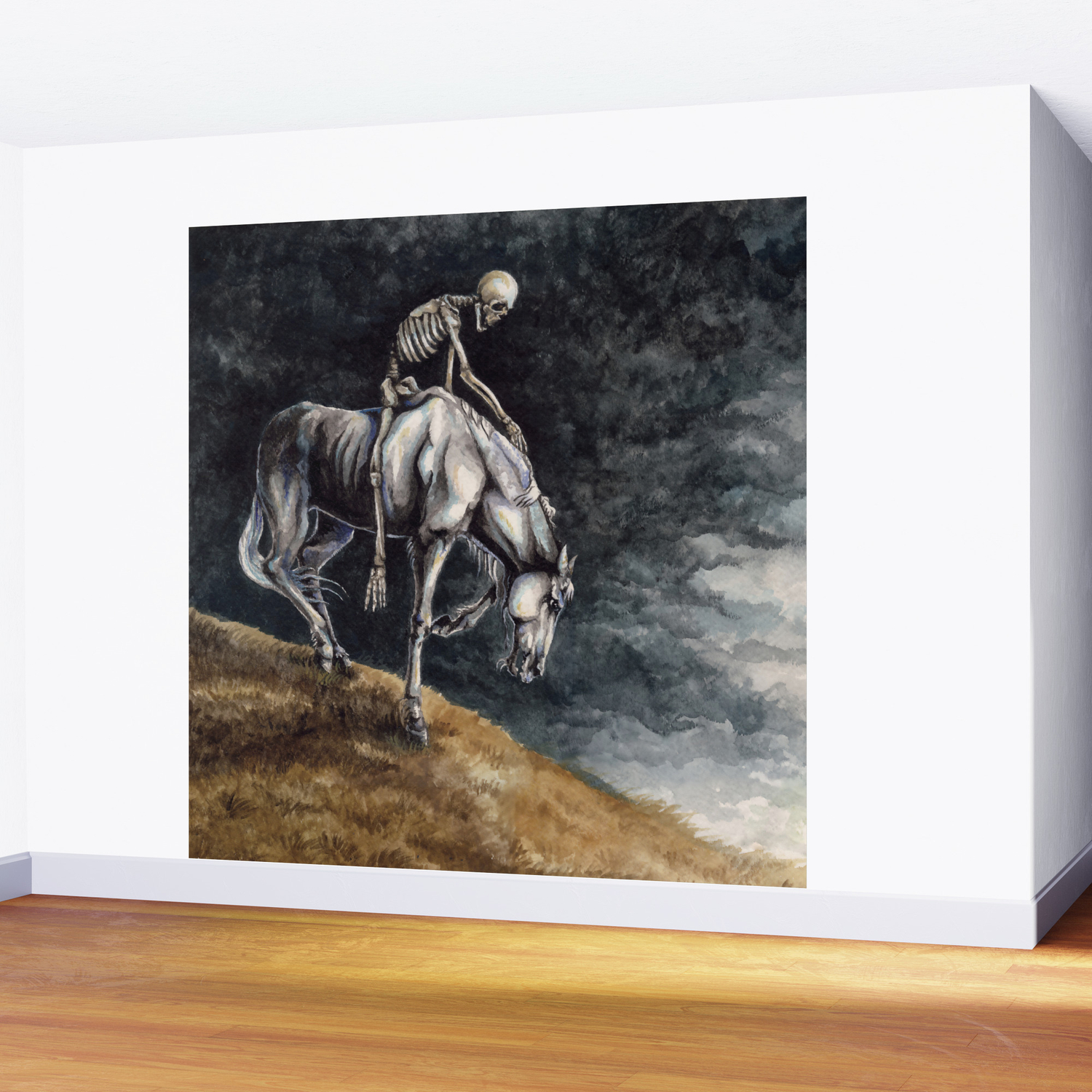 Skeleton Riding A Pale Horse Wall Mural By Wailingwizard Society6