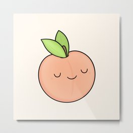 Happy Peach Metal Print