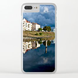 Autumnal October moment on the river Oder Clear iPhone Case