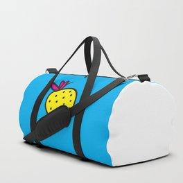 Strawberrious -Yellow/CYAN Duffle Bag