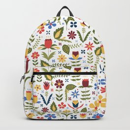 folky floral pattern Backpack