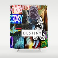 destiny Shower Curtains featuring Destiny by Aldo Couture