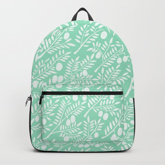 Mint Olive Branches Backpack