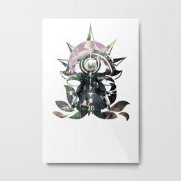NieR Automata 2B garden Metal Print