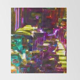 Rainbow Bismuth Throw Blanket