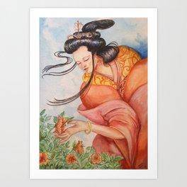 Hibiscus Love Art Print
