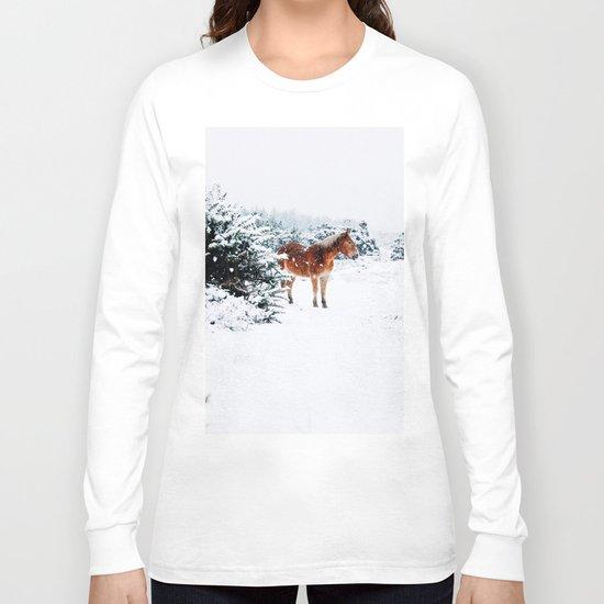 Winter horse Long Sleeve T-shirt
