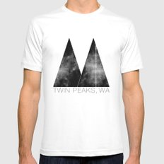Twin Peaks, WA White X-LARGE Mens Fitted Tee