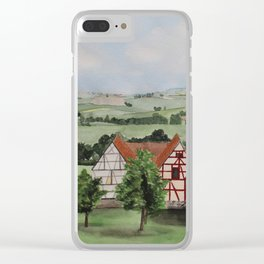 Swabian landscape with timbered houses Clear iPhone Case