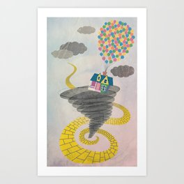 The Wizard of Up Art Print