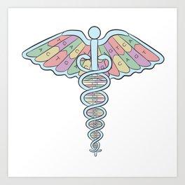 Medical DNA Art Print