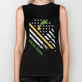 young living american t-shirts Biker Tank