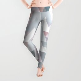 Pastel Graphic Winter Trees on Geometry #abstractart Leggings