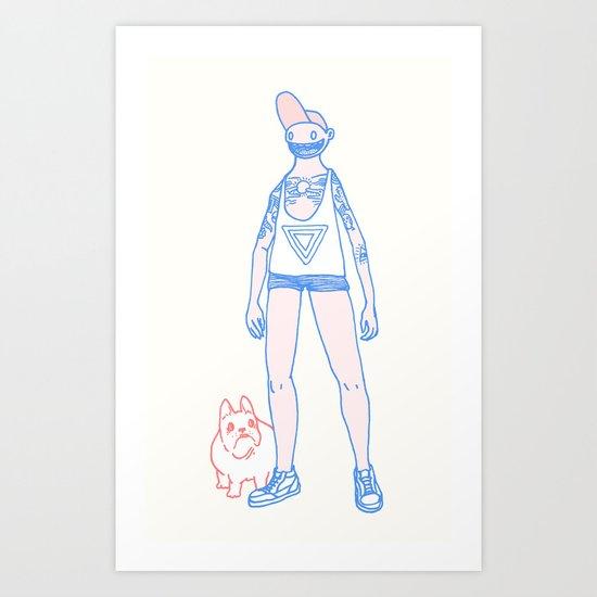 Short Shorts! Art Print