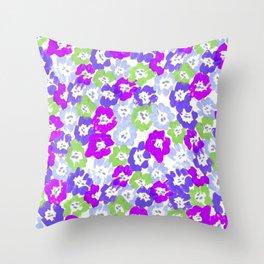 Morning Glory - Violet Multi Throw Pillow