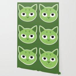 Birka the green cat Wallpaper
