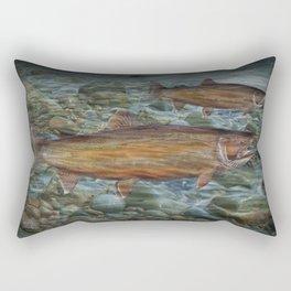 Steelhead Trout Migration in Fall Rectangular Pillow