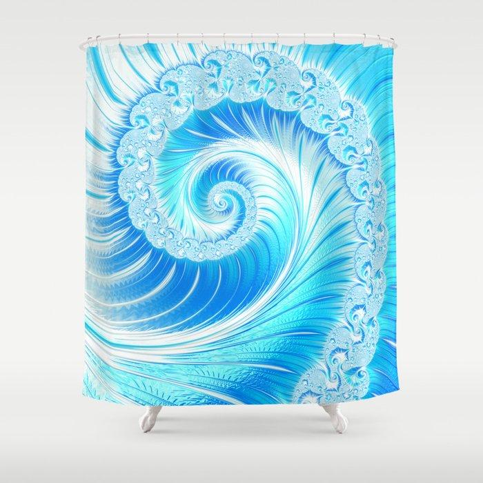 Frozen Vortex Shower Curtain By Annyrose