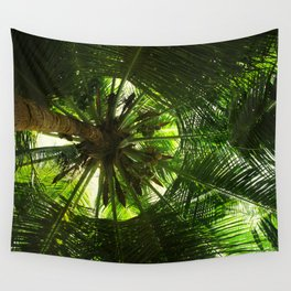 Green geometry Wall Tapestry