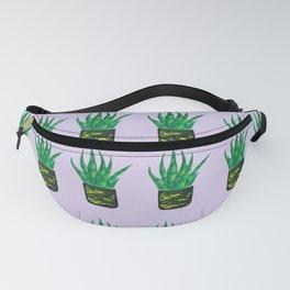 Snake plant pattern - Purple Fanny Pack