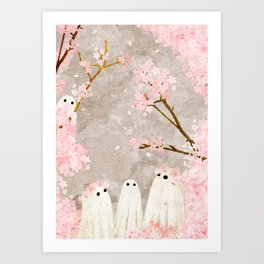 Cherry Blossom Party Art Print