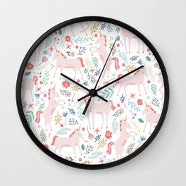 Unicorn Fields Wall Clock