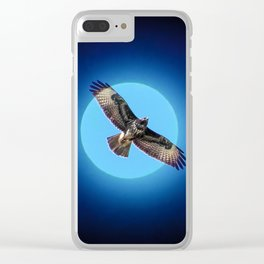 Moments - Full moon Clear iPhone Case