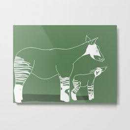 Okapi for Elly Metal Print
