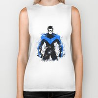 nightwing Biker Tanks featuring Nightwing by fouur