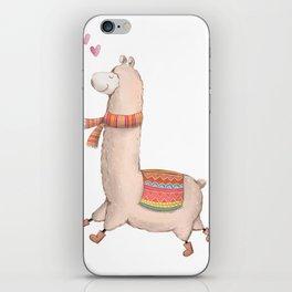 Happy Chubby Llama iPhone Skin