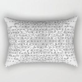Lord, I need You Rectangular Pillow