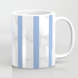 marble vertical stripe pattern blue Coffee Mug