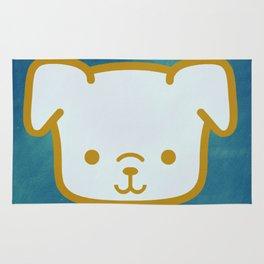 Woof - Dog Graphic - Chalkboard Inspired Rug